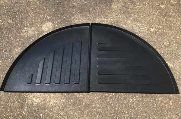 floor tray for tree rack half
