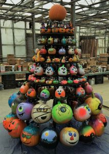 pumpkin tree display