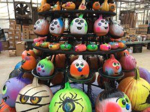 pumpkin display rack
