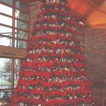 holiday decorative poinsettia tree