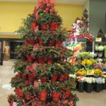 supermarket potted plant tree display