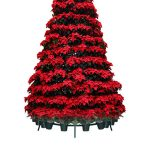 poinsettia tree rack